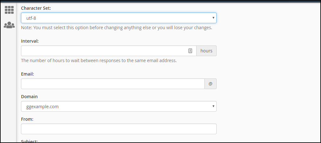 creating email autoresponders in cPanel, step 3
