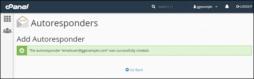 creating email autoresponders in cPanel, step 5