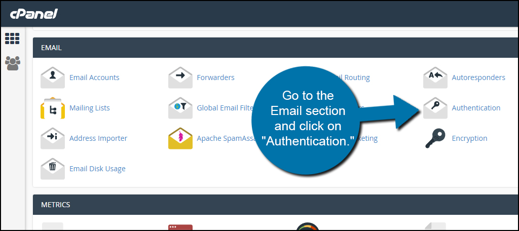 cPanel Email Authentication