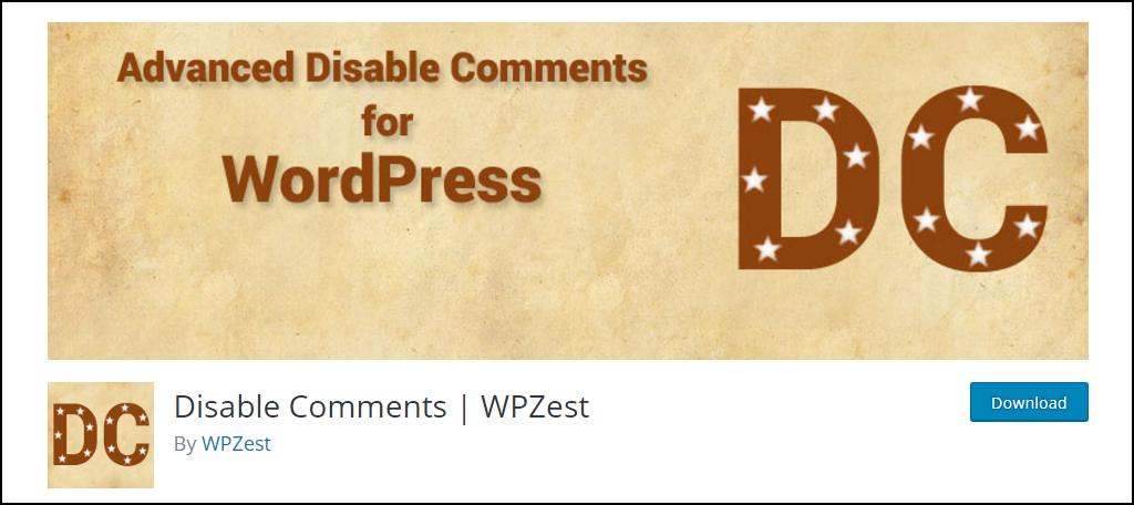 Disable Comments