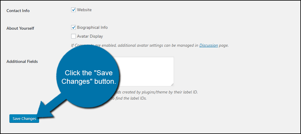 """click the """"Save Changes"""" button."""