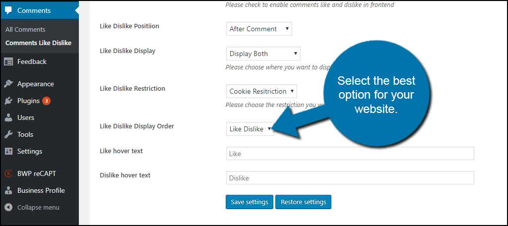 Select the best option for your website.