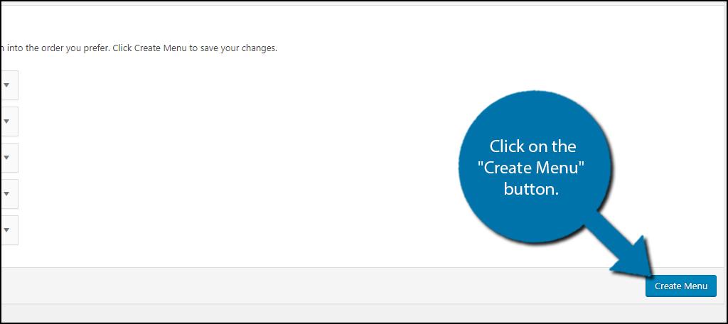 "click on the ""Create Menu"" button."