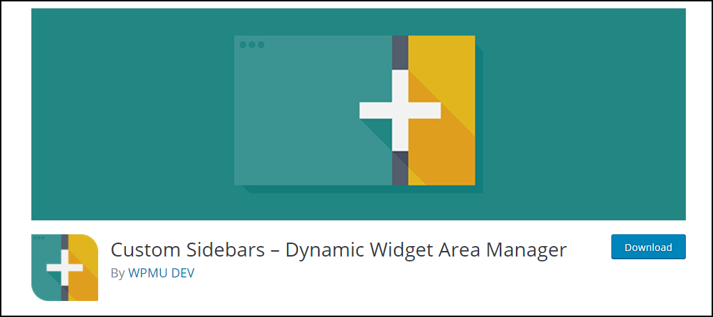 Custom Sidebars – Dynamic Widget Area Manager