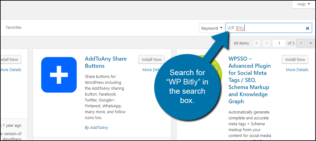 Search WP Bitly