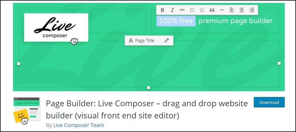 Page Builder: Live Composer