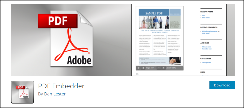 how to add pdf in wordpress