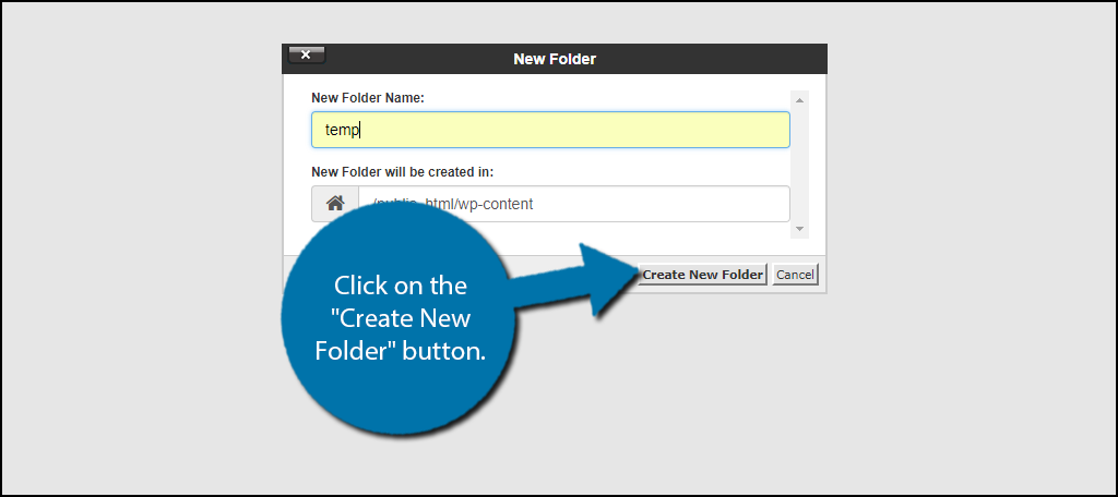 "click on the ""Create New Folder"" button"
