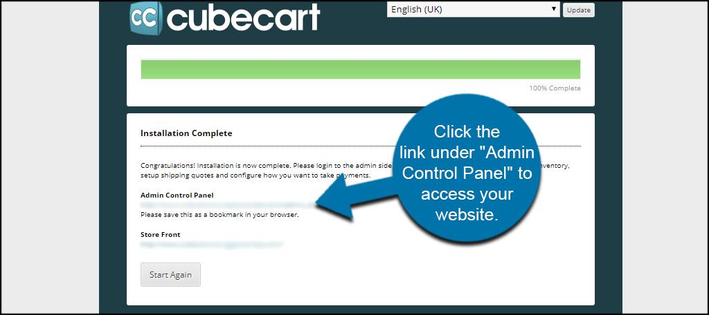 Click Admin Link
