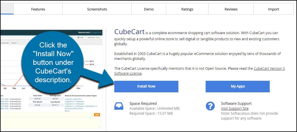 Install CubeCart
