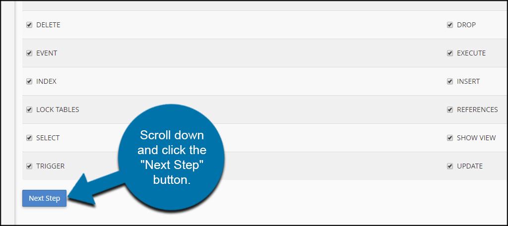 Next Step Button