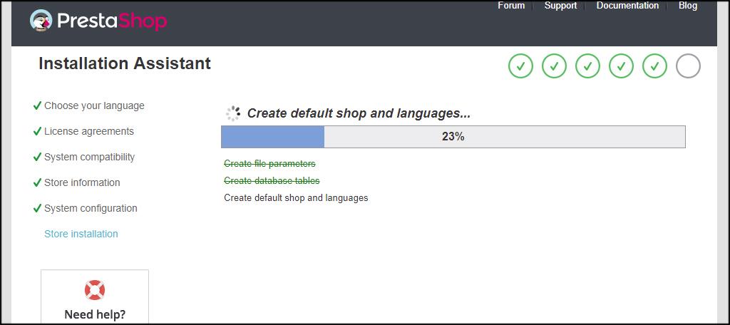 PrestaShop Install