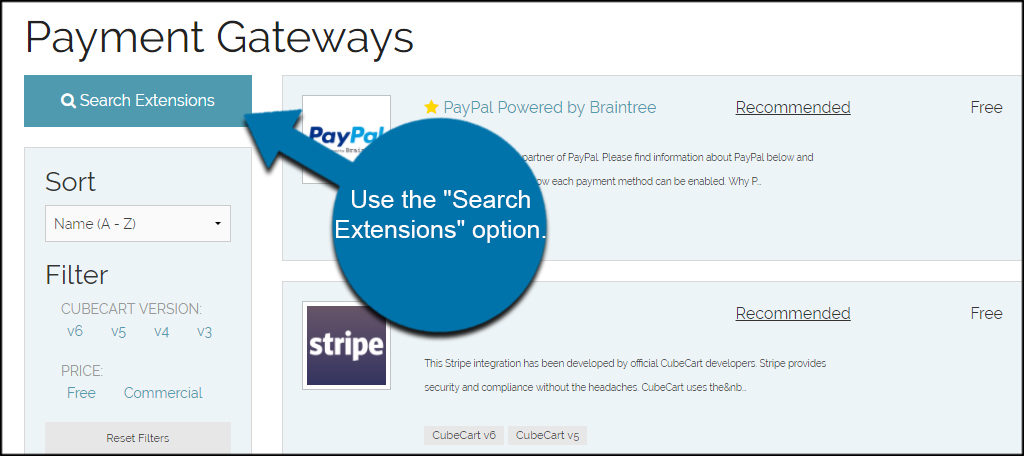 Search Extensions