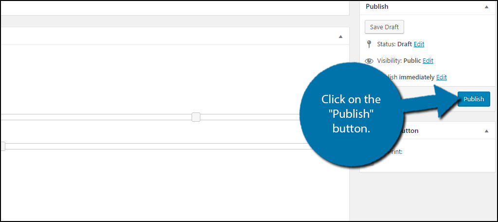 "Click on the ""Publish"" button once you are done customizing the display."