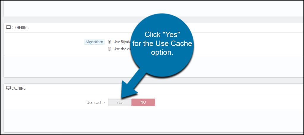 Use Cache