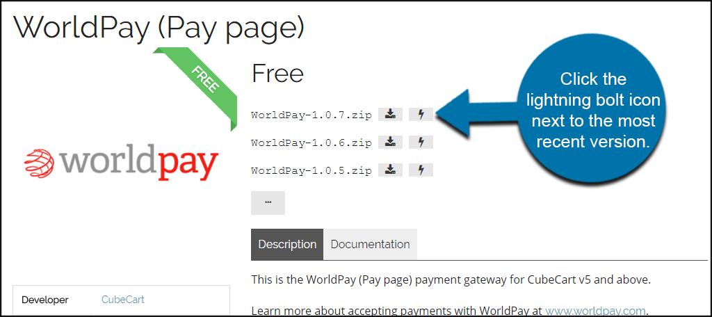 WorldPay Recent Version