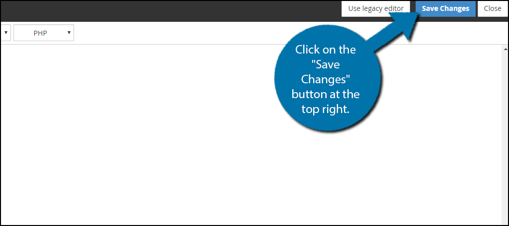 """Click on the """"Save Changes"""" button at the top right."""