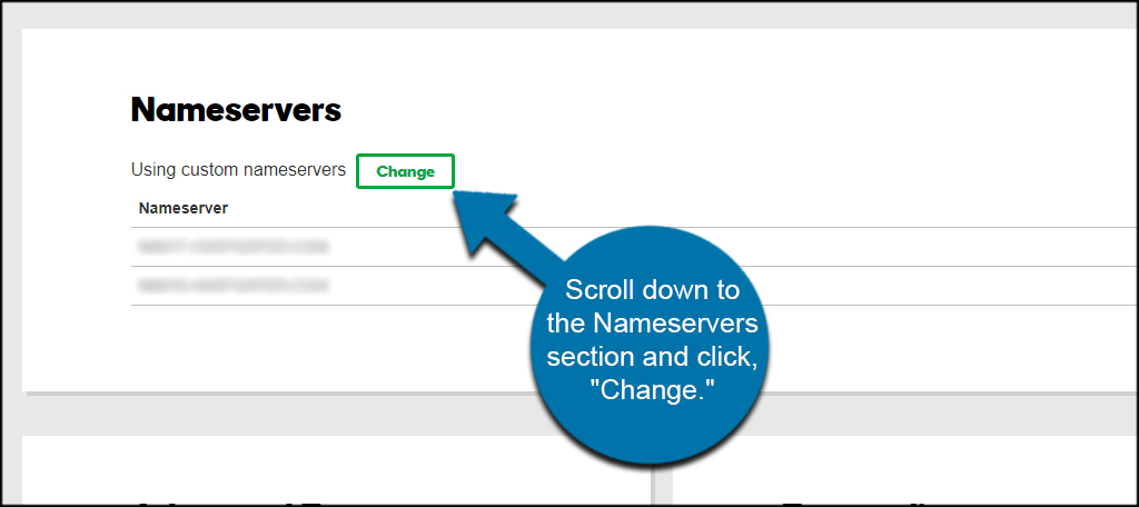 Change Nameservers
