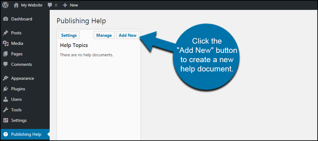Create Help Doc for a custom wordpress client dashboard