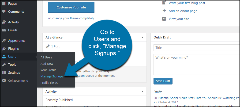 Manage Signups