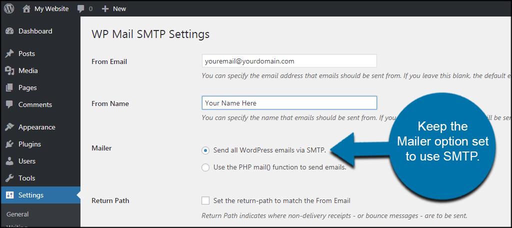 Use SMTP