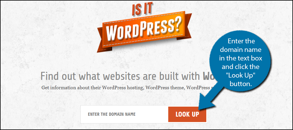 """enter the domain name in the text box and click the """"Look Up"""" button."""