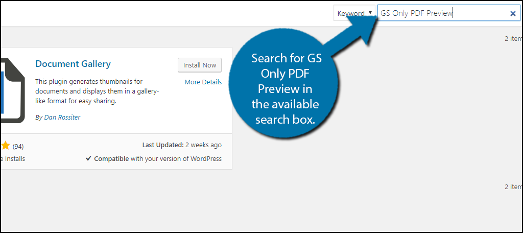 Search for GS Only PDF Preview in the available search box.