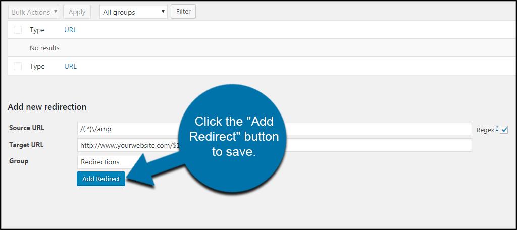 Add Redirect