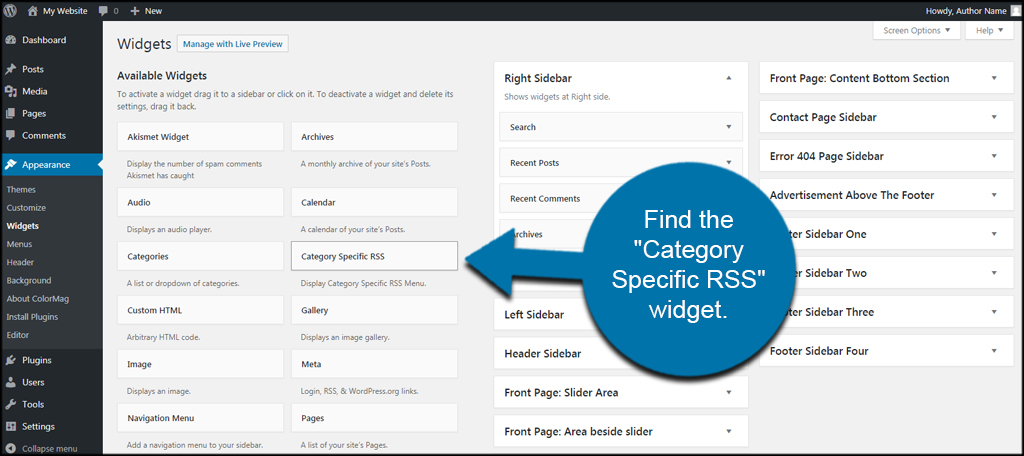 Find RSS Widget