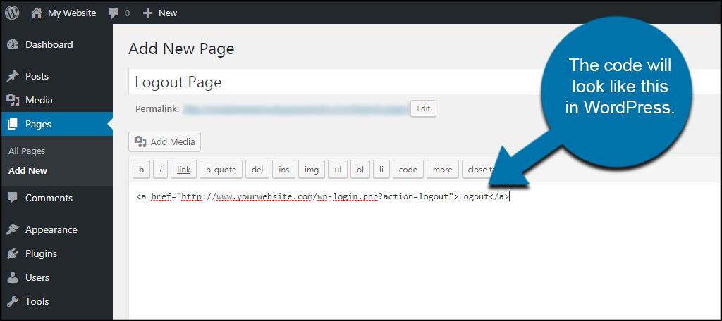 Logout HTML