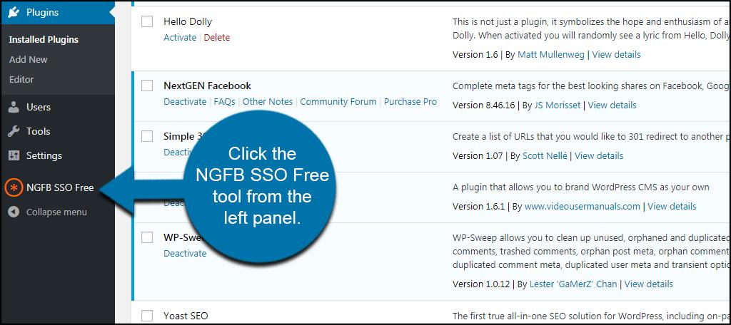 NGFB SSO Free