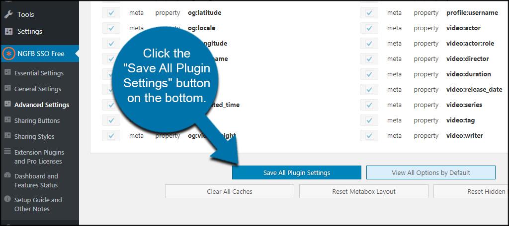 Save All Plugin Settings