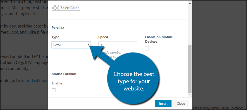 Choose the best Type for your website.