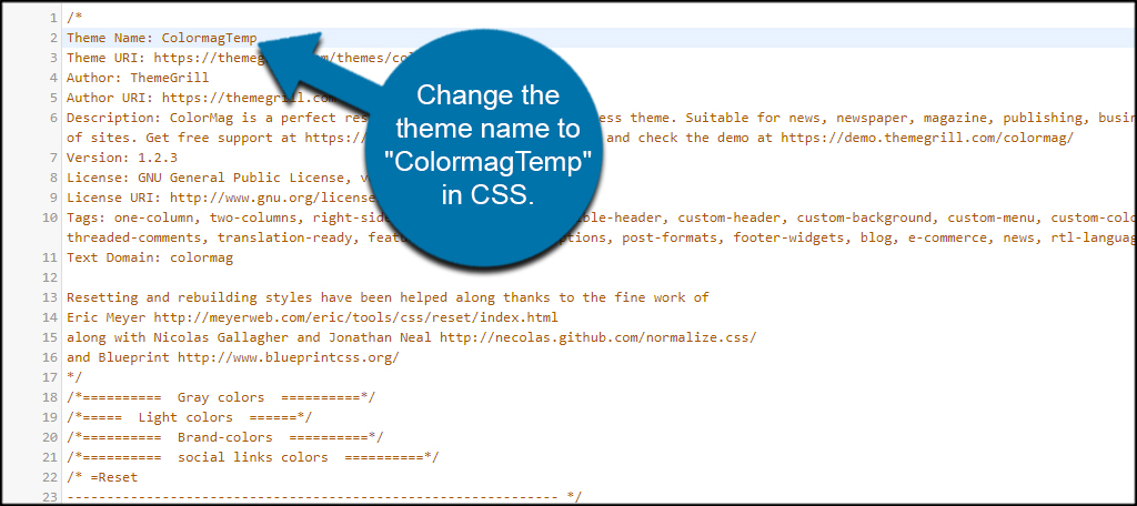 How to save your customization before updating a wordpress theme after changing the css line as in the example the theme now has a new name in wordpress malvernweather Gallery