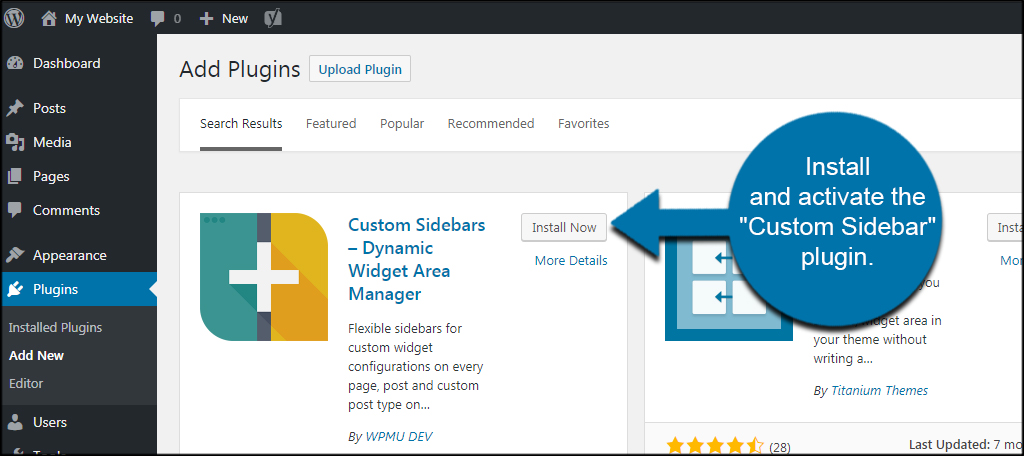 How To Add Custom Sidebars With Dynamic Widgets In Wordpress Greengeeks