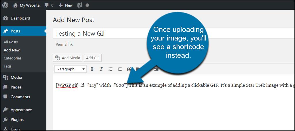 GIF Shortcode