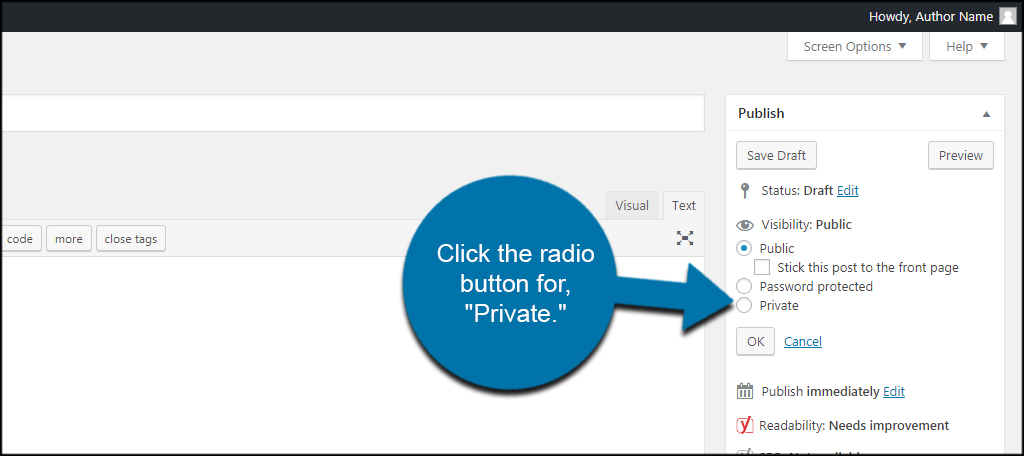 Private Radio Button