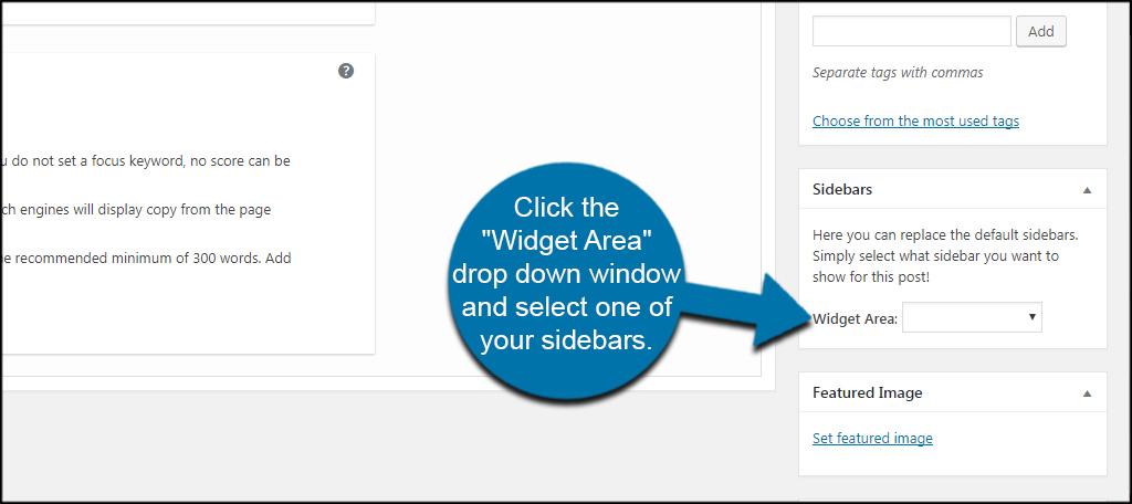 Select Sidebar