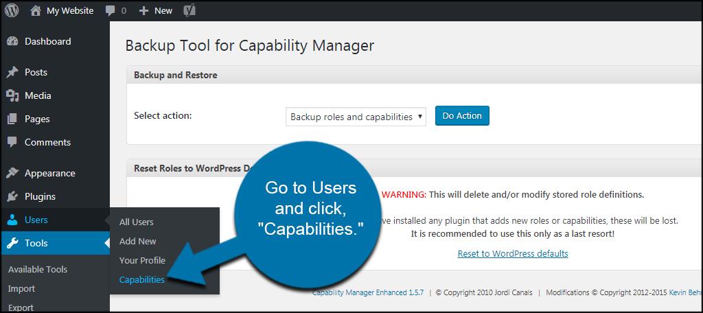 Users Capabilities