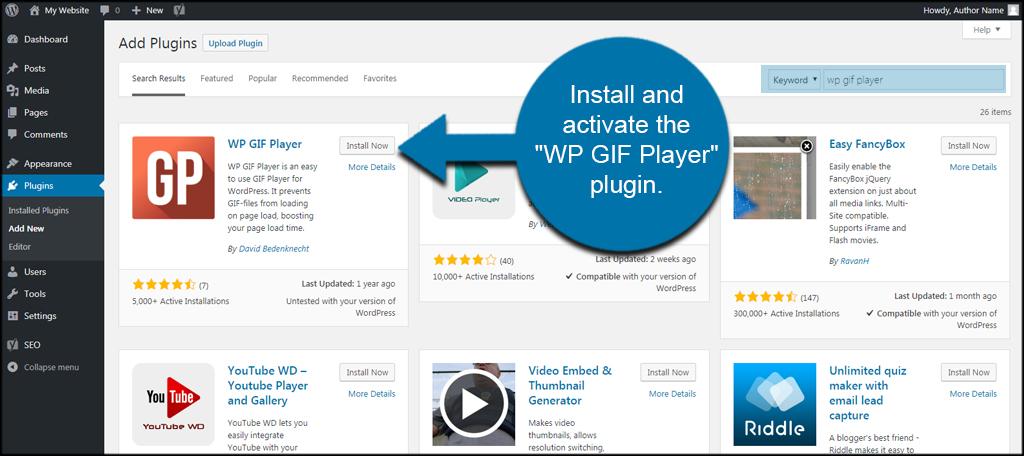 WP GIF Player