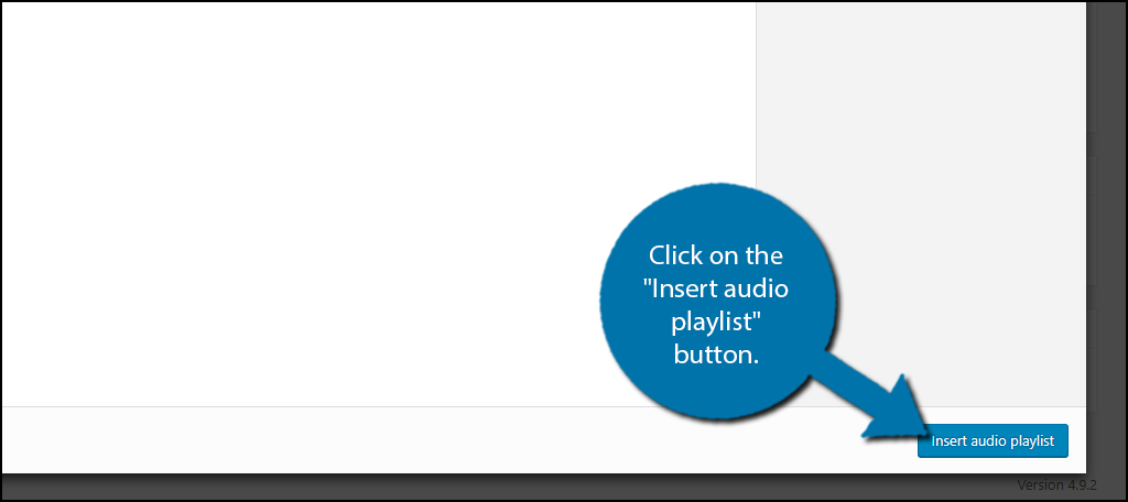 "click on the ""Insert audio playlist"" button."