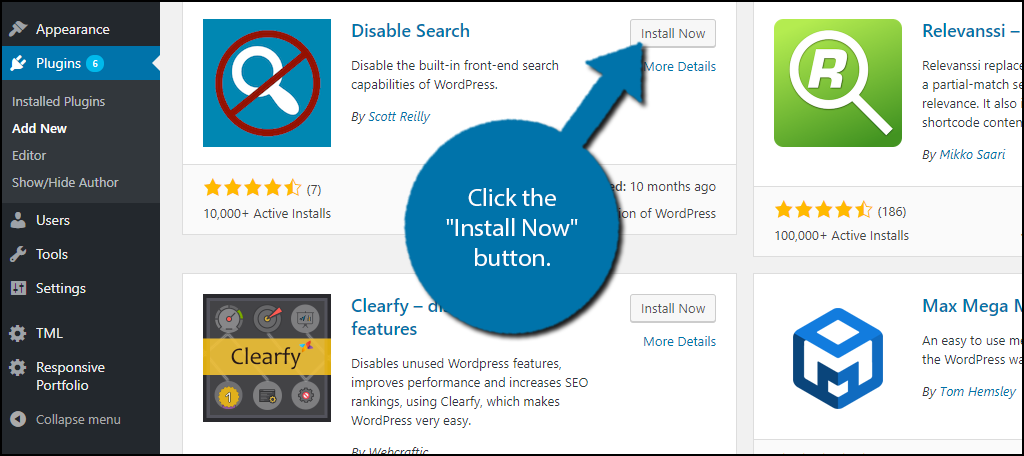 "click the ""Install Now"" button"