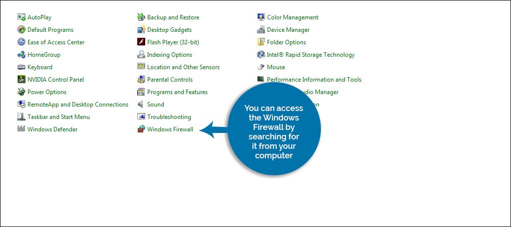 Access The Windows Firewall