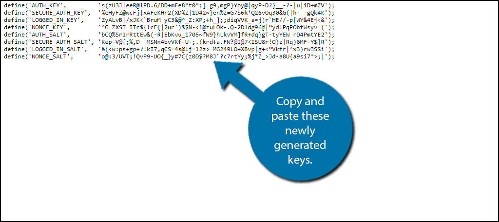 opy and paste these newly generated keys.