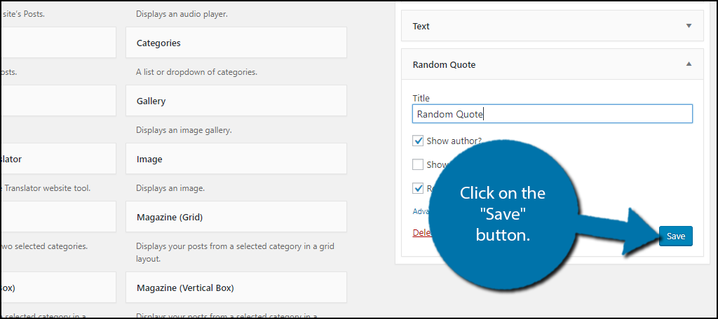 """Click on the """"Save"""" button."""