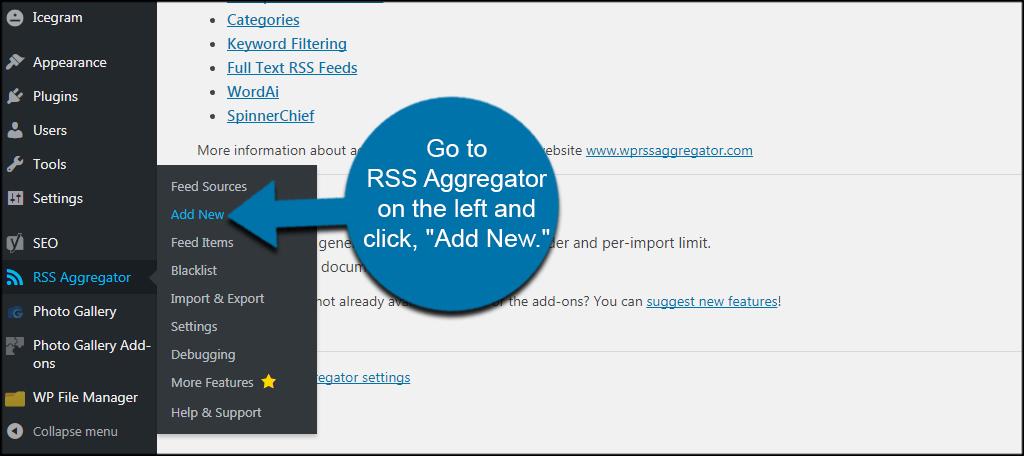 Add New RSS