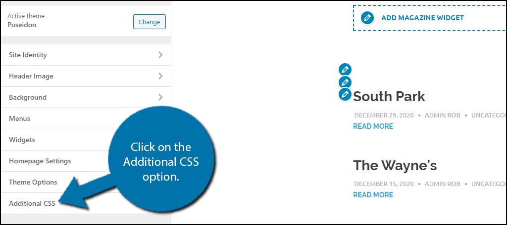 Additional CSS