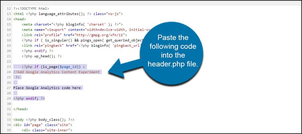 Paste Code Header