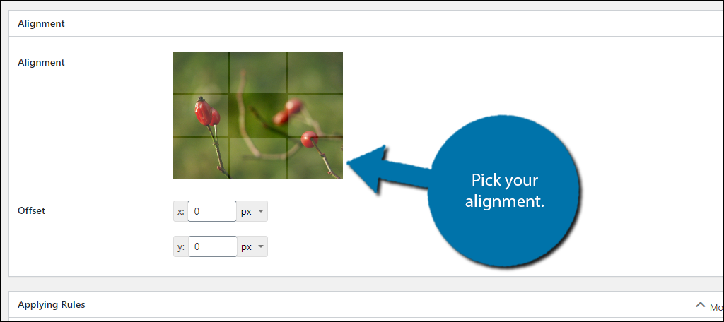 Pick Alignment