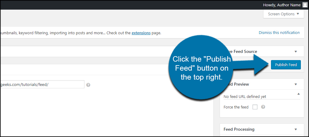 Publish Feed